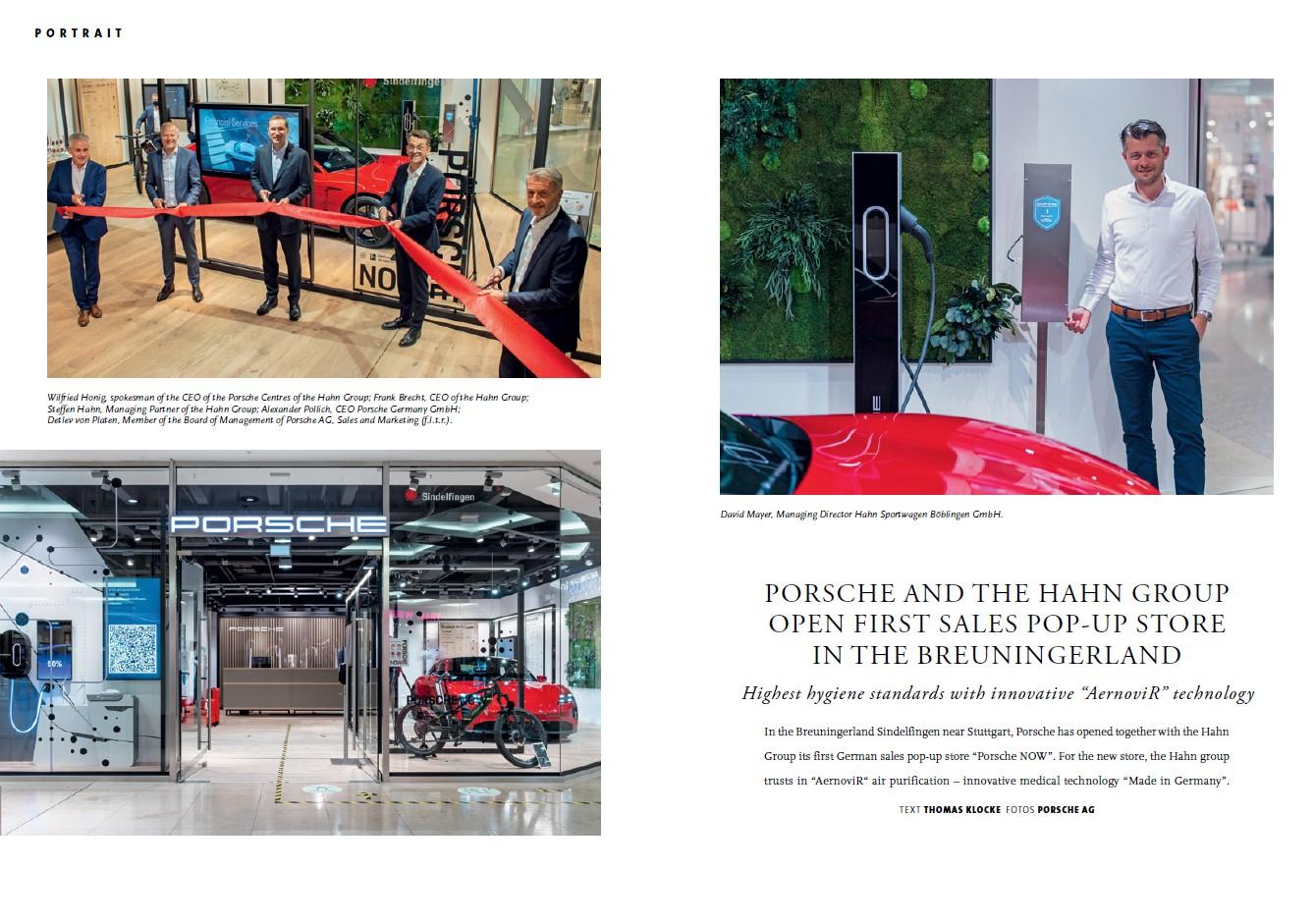 Aernovir w salonie Porsche